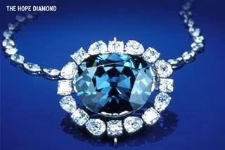 blauwe hoop diamant